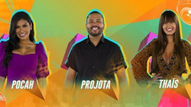 Pocah, Projota e Thaís no paredão do BBB21