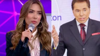 Patrícia Abravanel e Silvio Santos