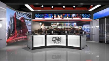 Imagem do cenário da CNN Brasil