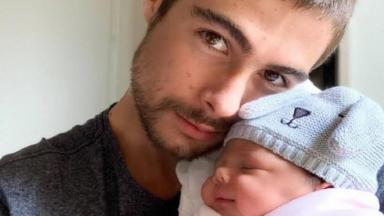 Rafael Vitti e sua filha Clara Maria
