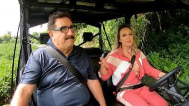 Ratinho e Eliana durante entrevista