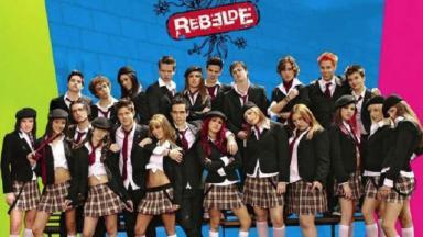 """Parte do elenco de """"Rebelde"""""""