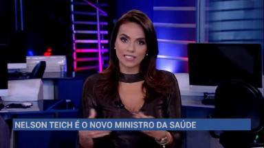 RedeTV! anunciando Nelson Teich como novo Ministro da Saúde