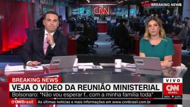 Reinaldo Gottino e Daniela Lima na CNN