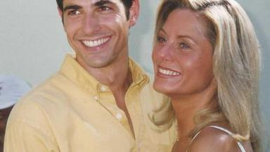 Reynaldo Gianecchini posa para foto com Vera Fischer
