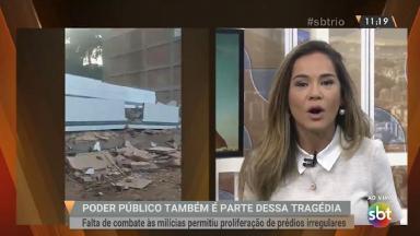 "Isabele Betino apresentando o ""SBT Rio"""