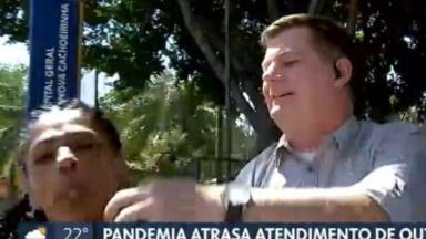Mulher invade link da Globo