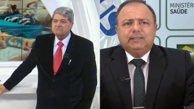 José Luiz Datena e Eduardo Pazuello