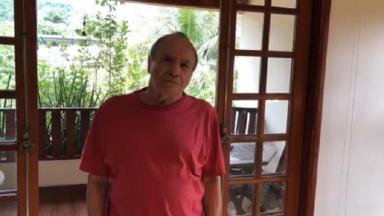 Stênio Garcia durante vídeo