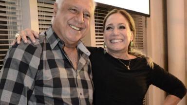 Antônio Fagundes e Susana Vieira posam para foto