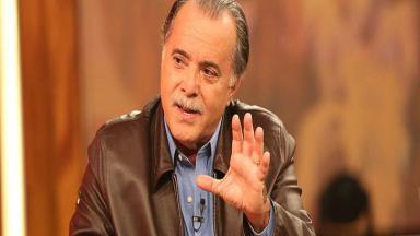 Tony Ramos durante participação em programa da Globo