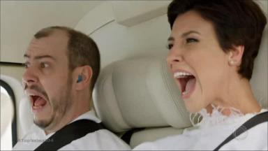 Sophia e um enfermeiro gritando enquanto o helicóptero cai em Topíssima