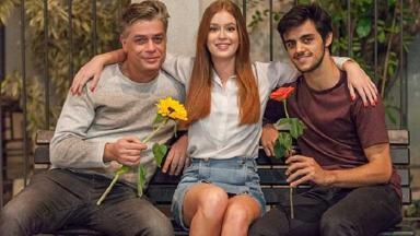 Eliza, Arthur e Jonatas em foto de Totalmente Demais