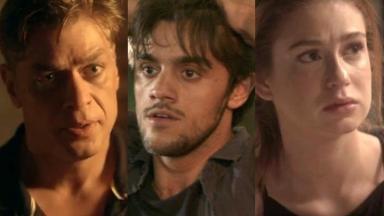 Arthur, Jonatas e Eliza em cena na novela Totalemente Demais, da Globo