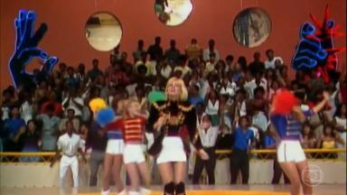 Xuxa em apresentação no Domingão do Faustão