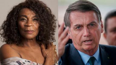 Zezé Motta e Jair Bolsonaro