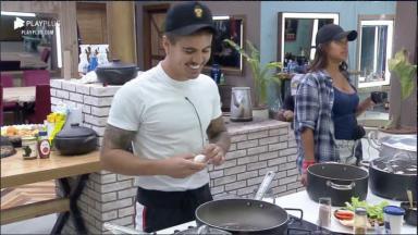 Na cozinha, Biel comenta briga de Jojo e Lidi com Tays em A Fazenda 2020