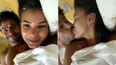 Jakelyne e Mariano no confinamento do hotel com eliminados de A Fazenda 2020