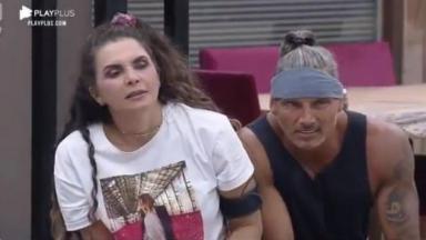 Na sala, Luiza Ambiel lê punição ao lado de Juliano Ceglia em A Fazenda 2020