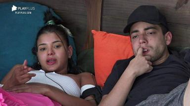 Jakelyne Oliveira aparece conversando com Lucas Maciel em A Fazenda 2020