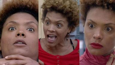 Lidi Lisboa em três momentos, fazendo caras e bocas