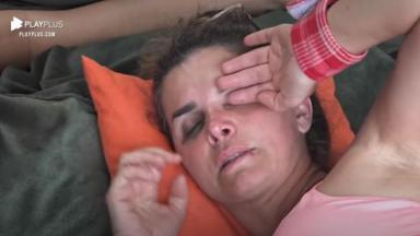 Na casa da árvore, Luiza Ambiel chorou enquanto conversava com Victória Villarim