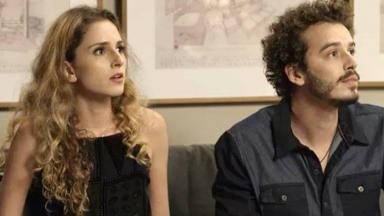 Ivana e Cláudio olham com espanto