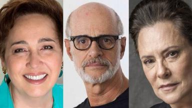 Elizabeth Savalla, Marcos Caruso e Claudia Jimenez