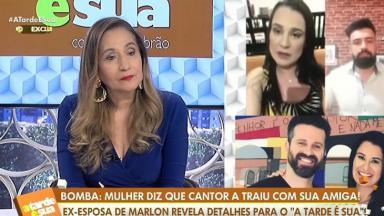 Sônia Abrão entrevistando Letícia no A Tarde é Sua