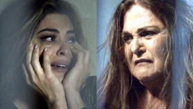 Juliana Paes e Elizângela em cena da novela A Força do Querer, em reprise na Globo