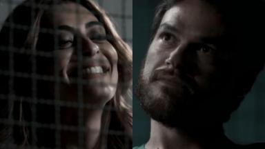 Juliana Paes e Emílio Dantas em cena da novela A Força do Querer, em reprise na Globo