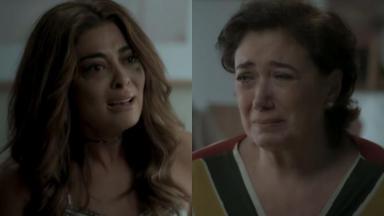 Juliana Paes e Lilia Cabral em cena da novela A Força do Querer, em reprise na Globo