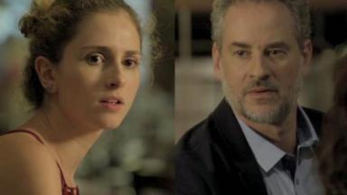 Carol Duarte e Dan Stulbach em cena da novela A Força do Querer, em reprise na Globo
