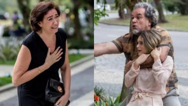 Lilia Cabral e Juliana Paiva em cena do último capítulo da novela A Força do Querer, em reprise na Globo