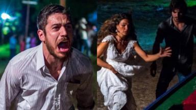 Marco Pigossi, Isis Valverde e Fiuk em cena de A Força do Querer
