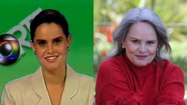 Abigail Costa apresentando o Globo Esporte e atualmente