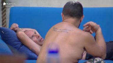 Rafael Ilha e Evandro Santo conversando
