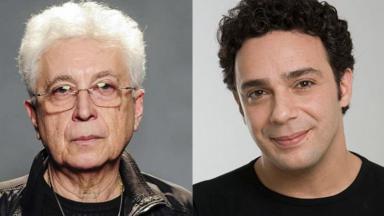 Aguinaldo Silva e Marcelo Médici posados para fotos individuais