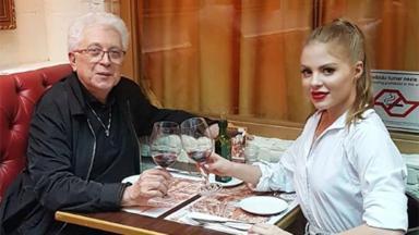 O autor Aguinaldo Silva e a atriz e cantora Luísa Sonza