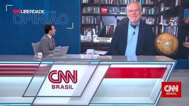 Sidney Rezende e Alexandre Garcia durante o Liberdade de Opinião