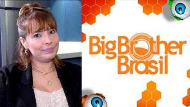 Aline em entrevista para o Balanço Geral; Logo BBB