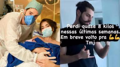 No início do mês, Alok e Romana Novais tiveram Raika, segunda filha do casal