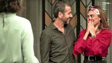 Maria da Paz e Amadeu sorrindo