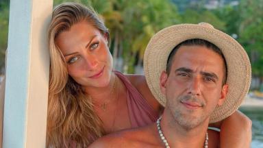 André Marques ao lado de Sofia Starling