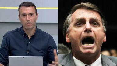 André Rizek e Jair Bolsonaro