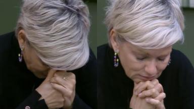 Andréa Nóbrega devastada com a eliminação de Bifão, sua amiga dentro do reality show A Fazenda 2019