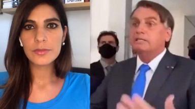 Andréia Sadi em live; Bolsonaro atacando a imprensa