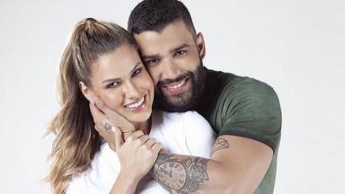 Andressa Suita e Gusttavo Lima abraçados