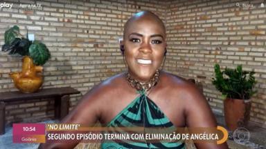 Angélica, a segunda eliminada do No Limite, participa do Encontro