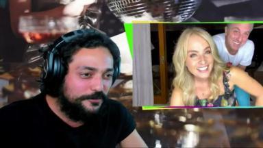 Eduardo Sterblitch entrevista Angélica e Luciano Huck em live